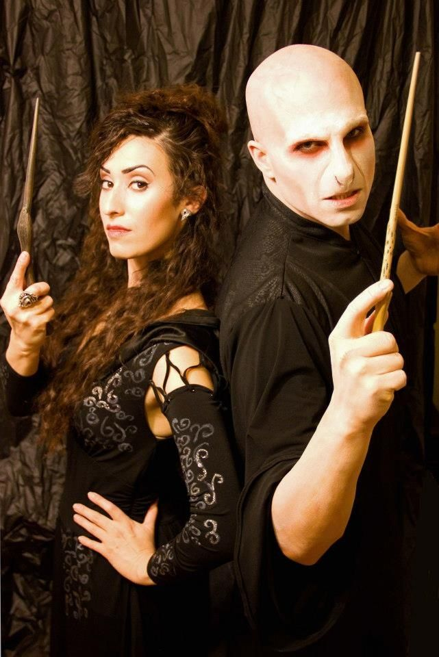 Sydney and I as Bellatrix and Lord Voldemort.  Makeup and costumes by Sydney Lauren Robinson  Facebook: http://www.facebook.com/pages/Sydney-Lauren-Robinson-Makeup-Artistry/  Website:  http://slrmakeup.com