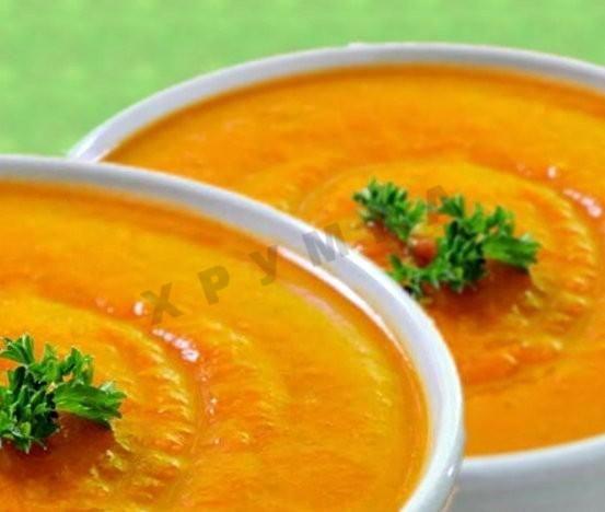 Суп пюре из картофеля и моркови с кокосовым молоком