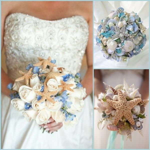 Beach Wedding Flower Ideas: Starfish Themed Beach Wedding Bouquet Ideas
