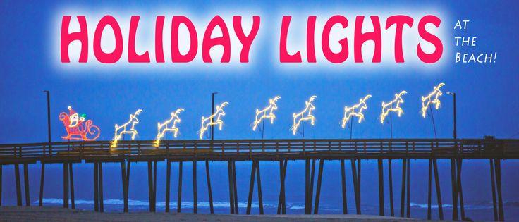 HOLIDAY LIGHTS along the #VirginiaBeach #Boardwalk are now shining bright!  $3 Off Coupon.  #sandbridge #sandbridgebeach #vabeach #siebert #siebertreatly #holidaylights   Siebert Realty - The Beach People Sandbridge Beach, Virginia Beach, VA
