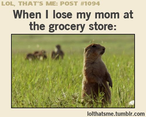 "hahahahaha this is so true! And i love that it says ""when i lose my mom"" not ""when i get lost"" ;) :D"