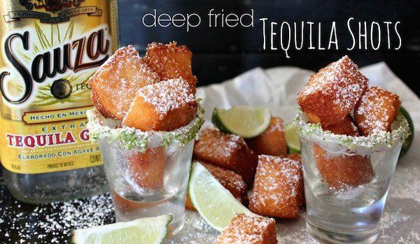 On peut se bourrer la gueule en mangeant ! Découvrez les shots de Tequila frits...