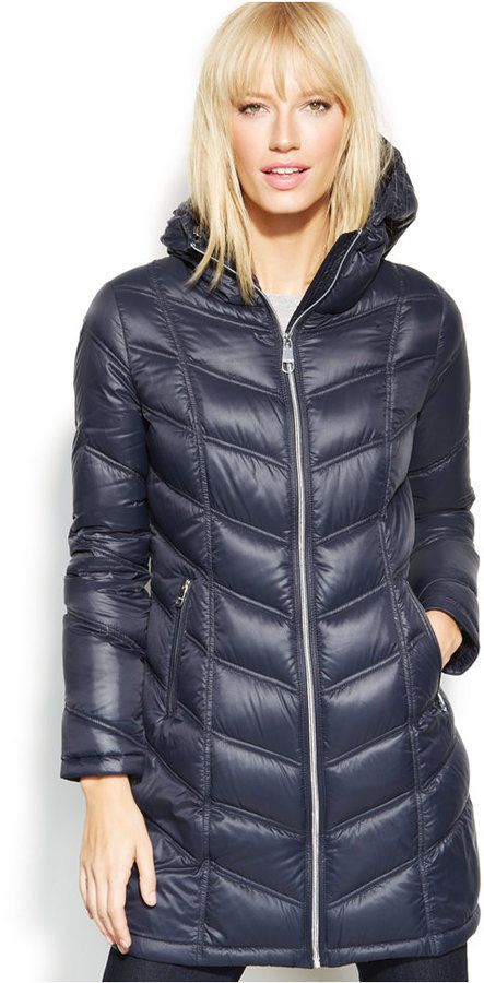Calvin Klein Quilted Down Packable Puffer Coat, Bundle up in Calvin Klein's packable puffer coat-- it's a must-have for colder weather!