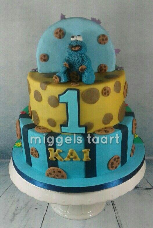 Double sided cake horse /cookie monster  paard taart koekiemonster