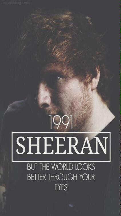 Firefly - Ed Sheeran lockscreen