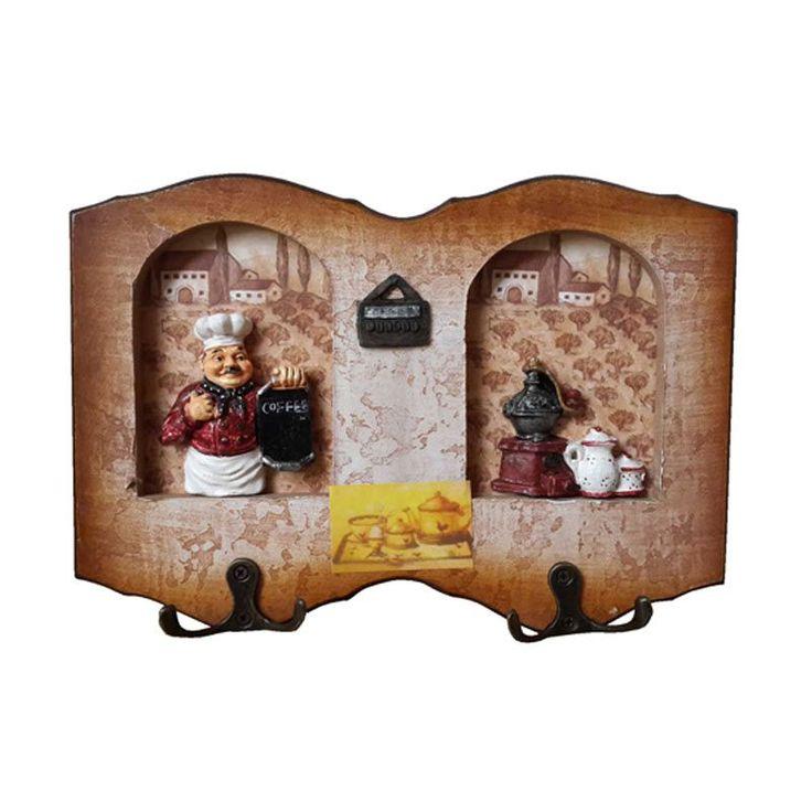 TilaVie Bentuk Bingkai Foto Motif Coffee Coklat Gantungan Kunci