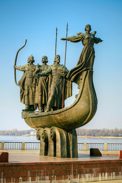 Founders of Kiev Statue, Kiev, Ukraine by Matt. Create. (Roads Less Traveled)