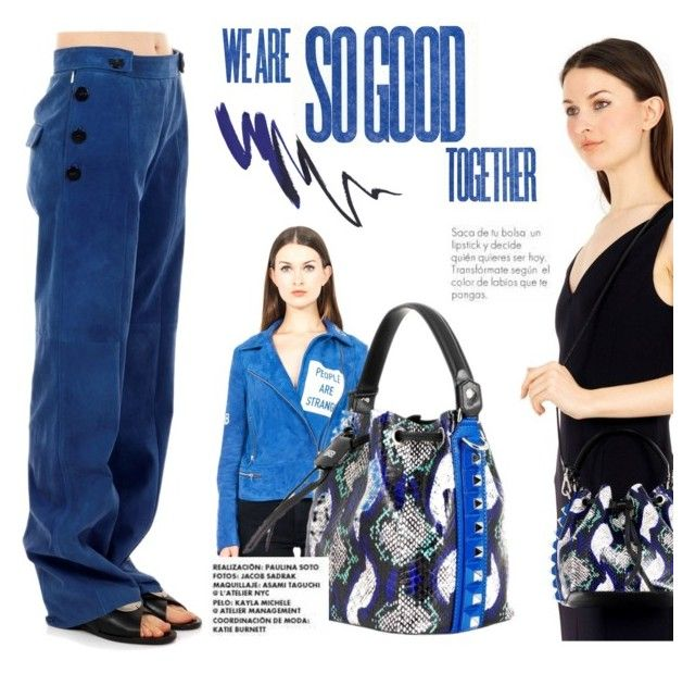 Black&blue! by thequeenstore on Polyvore featuring moda, Fifteen And Half and SALAR