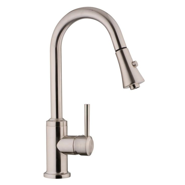 fontaine euro pull down brushed nickel kitchen faucet brushed nickel