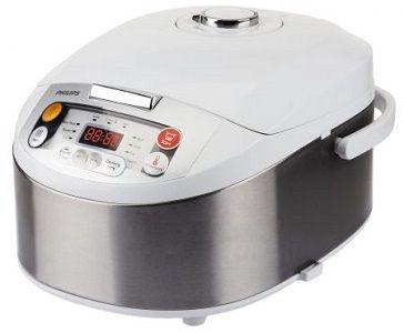 Multicooker Philips HD3037/70, 980 W, 5 l, Programe automate, Timer, Alb/Argintiu. De acum cu ajutorul lui Multicooker Philips HD3037/70 poti gati mai rapid si simplu toate preparatele preferate. Poti gati supe sau ciorbe, carne, legume, paste, chiar si prajituri cu gusturi exceptionale fara sa pierzi din proprietatile alimentelor. Aparatul Multicooker de la Philips vine echipat cu un sistem inteligent ce regleaza temperatura automat.  Vezi aici pret, review si pareri despre produs