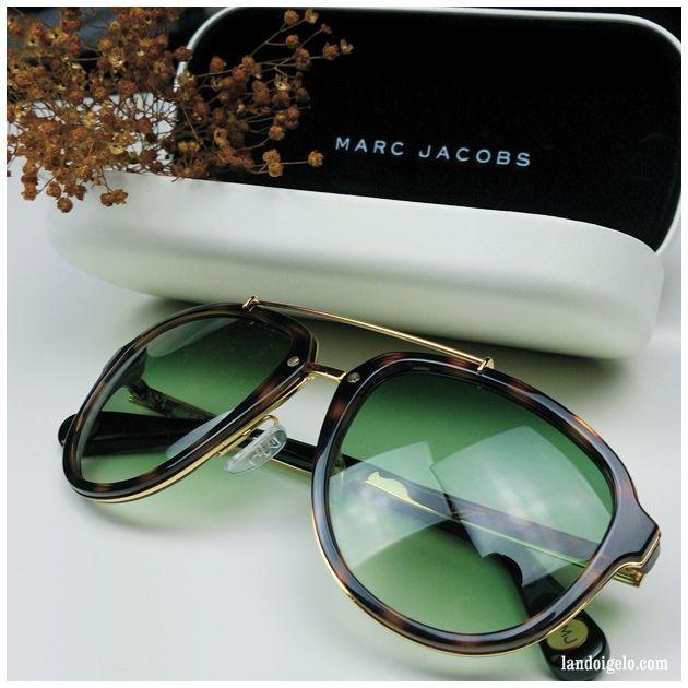 Gafas de sol retro estilo piloto byMarc Jacobs vía el blog de moda masculina by landobnitez.com