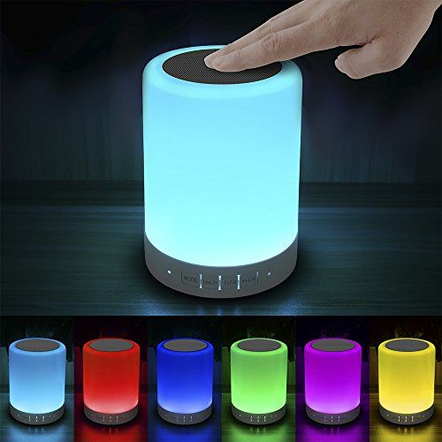 Elecstars LED Touch Bedside Lamp - with Bluetooth Speaker...