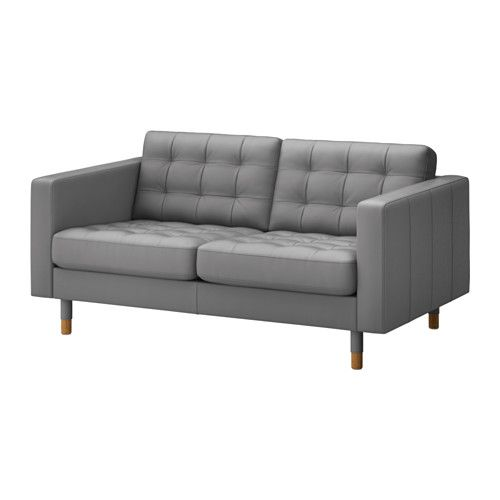 LANDSKRONA Canapé 2 places - Grann/Bomstad gris, bois - IKEA