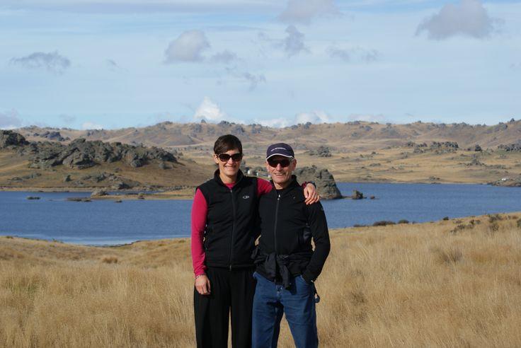 Carl and Sally Feinerman - Poolburn Dam Easter 2014... enjoying  a magical walk