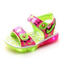 Maat 21-31 Nieuwe 2016 Zomer kinderen sandalen meisjes jongens Camouflage comfortabele sandalen met led licht baby kids fashion schoenen