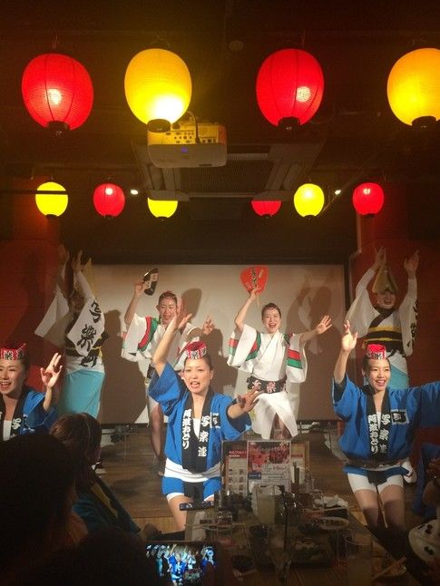 Awaodori, known as Awa dance, is a unique cultural entertainment restaurant offering you to experience the most enjoyable time in Japan.