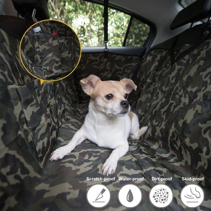 Camouflage Dog Car Seat Cover Mat Pet Travel Universal Waterproof Hammock for Cars Trucks SUV //Price: $57.92      #followme