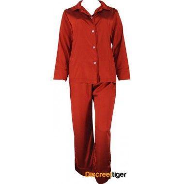 DARK RED SATIN WINTER PYJAMAS Striking dark red full length button up shirt and drawstring pants. Silky soft you won't want to take these off. @discreettiger #lotsofsizes #darkred #plussize #romantic #irresitable #sleepwear http://www.discreettiger.com.au/sleepwear/satin-pyjamas/dark-red-satin-pyjamas-winter