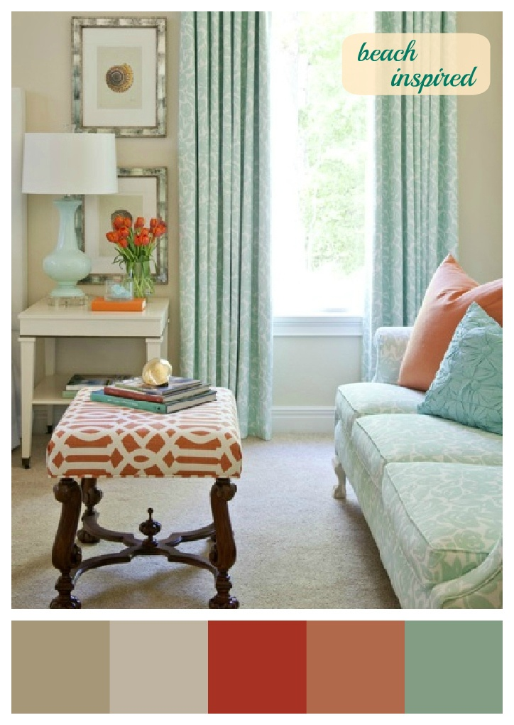 Coral And Aqua  Really Want To Try This Color Combo; Traditional Bedroom By  Tobi Fairley Part 44