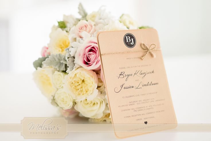 Three of my favourite things in one invite, a monogramme, kraft card and pretty ribbon.. Love!