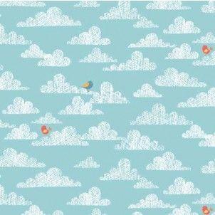 Makower - Jungle Clouds Blue