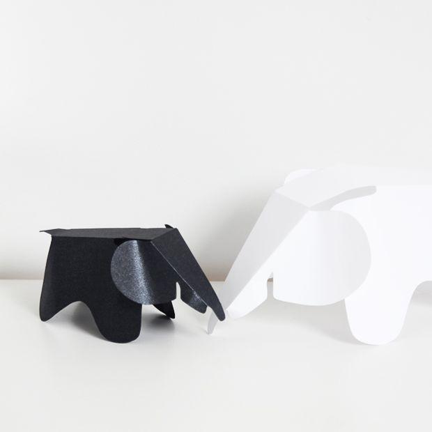 Eames paper elephant DIY