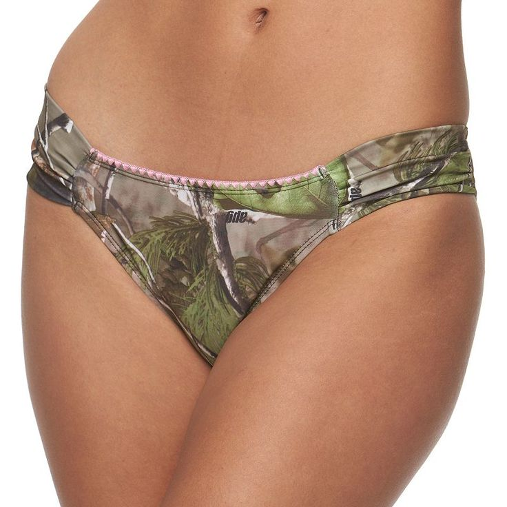 Juniors' Realtree Camouflage Bikini Bottoms, Kids Unisex, Size: Medium, Brown