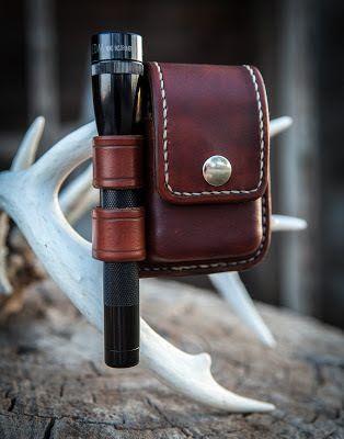 Leather flashlight phone case
