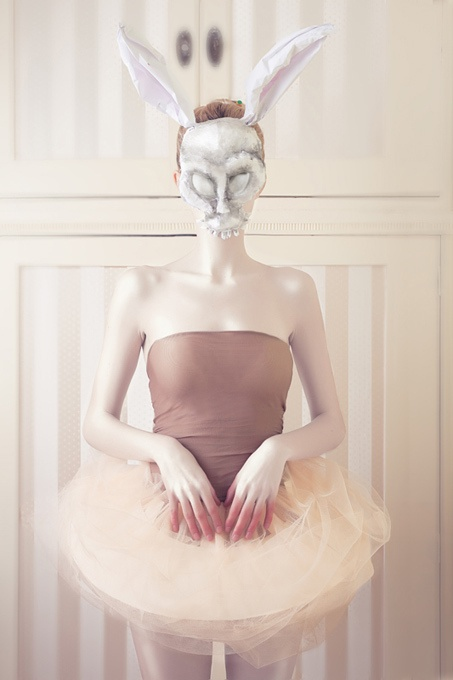 Mad World Sanctuary by Ivaylo Petrov, via Behance. Reminds me a lot of the Donnie Darko bunny... only now it's a she and she's a ballerina!