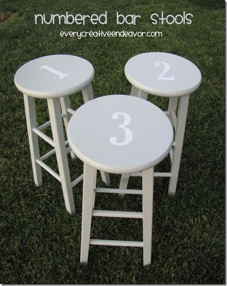 17 best images about painted furniture bar stools on - Bright colored bar stools ...