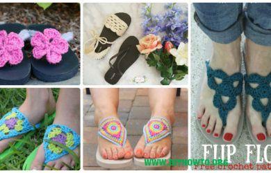 Crochet Flip Flop Footwear Makeover Free Patterns