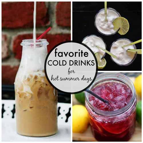 "Cold drinks for hot summer days | Modern Mrs Darcy ~ I already ""love"" Pioneer Woman's cold brew coffee, but the others look good, too.  Perfect cold drinks for reading on hot days. ;-)"