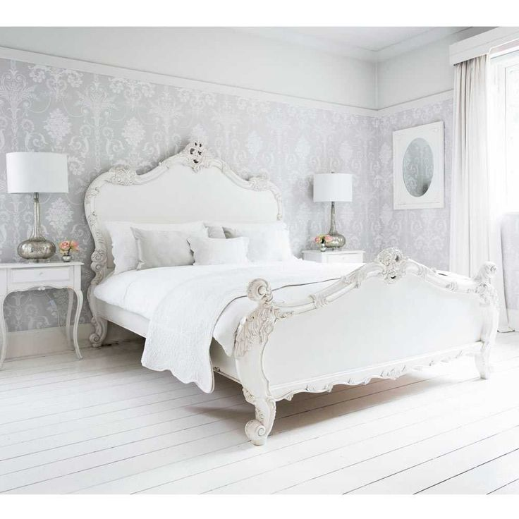 Provencal Sassy White French Bed - Romantic French Bed - Luxury French Bedroom