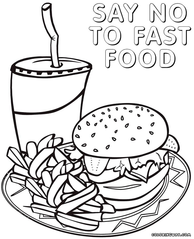 coloring pages of dishes - photo#46