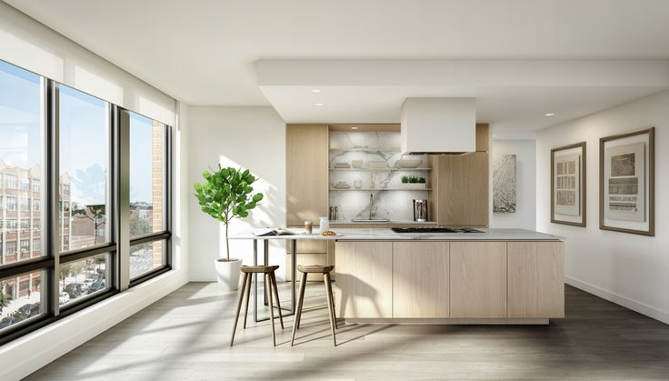 Show Apartment At 50 Greenpoint Avenue Brooklyn Condo Interior Interior White Oak Floors