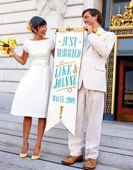 wedding #wedding #yellow #dress: Wedding Dressses, Teas Length, Idea, Yellow Shoes, Shorts Wedding Dresses, Shorts Dresses, Bride, The Dresses, Just Married