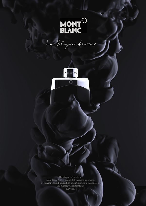 Mont Blanc Parfum Packshot - Water and Ink on Behance