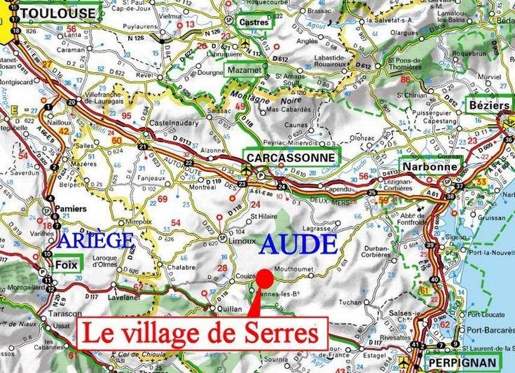 Le village de SERRES au pays de COUIZA - www.belcaire-pyrenees.com