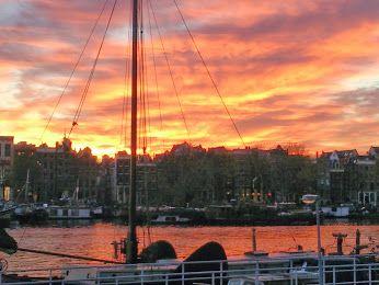 I love Amsterdam sunset