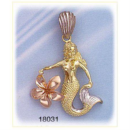 The 19 best mermaid jewelry pendants images on pinterest mermaid mermaidhomedecor 3 color gold mermaid charm 97599 aloadofball Choice Image