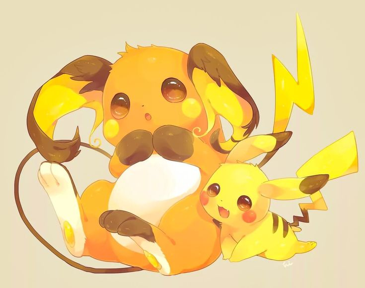 Raichu & Pikachu | Pikachu, Pikachu raichu, Cute pokemon Pichu Pikachu Raichu Rap