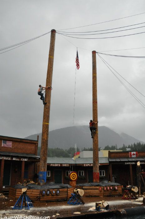 Our first stop in Ketchikan was The Great Alaskan Lumberjack Show! Super fun. Great for the whole family. #Travelblogger #alaska