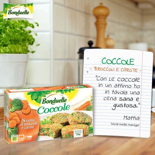 Le Coccole #Bonduelle sono fatte di broccoli e carote, selezionate, lavate e tagliate direttamente da Bonduelle. Un ottimo contorno pronto per te!