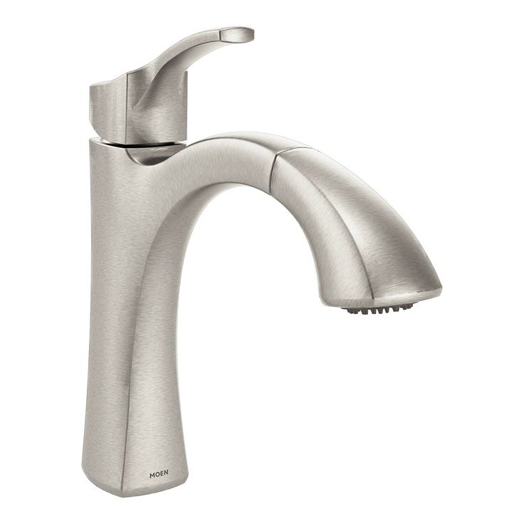Kitchen: Chrome Moen Kitchen Faucet With High Arc From The Caldwell  Collection Easy Installation From