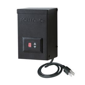 Portfolio 60-Watt 12-Volt Multi-Tap Landscape Lighting Transformer With Digital Timer With Dusk-To-Dawn Sensor 820108037