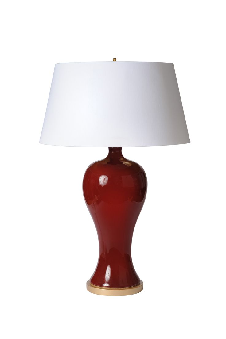 Buy Yaun Urn in Oxblood from Barbara Cosgrove Lamps by High Point Market - Quick Ship designer Lighting from Dering Hall's collection of Contemporary Table Lighting.