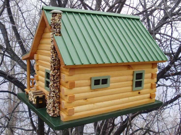 Log Cabin Birdhouse By Quilterskeepers On Etsy Bird