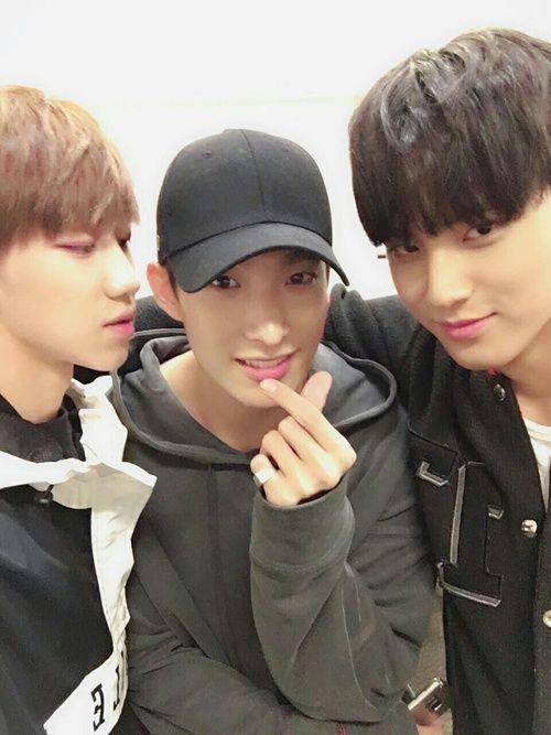 Imagen de Seventeen, DK, and mingyu