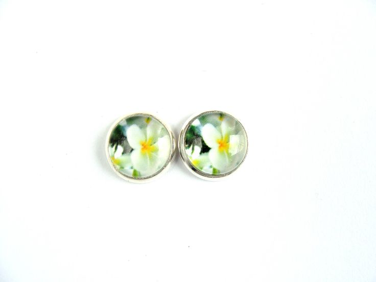 Flowers #5 Stud Earrings by CarolinePrecjoza on Etsy