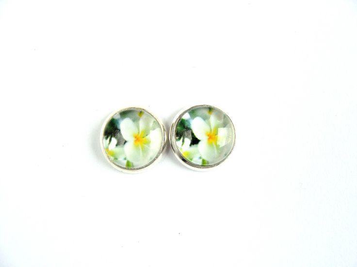 Flowers #5 Stud Earrings by CarolinePrecjoza on Etsy
